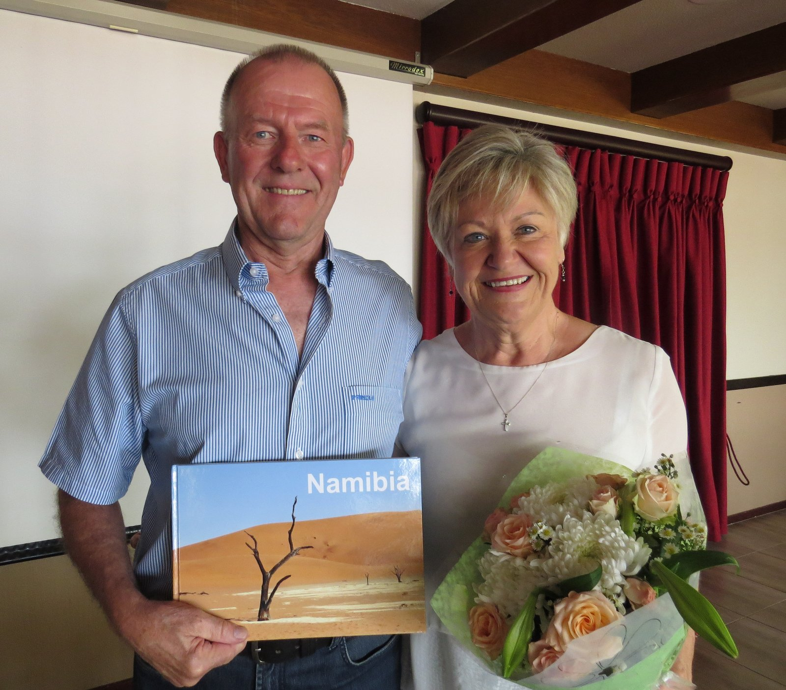 Travel Club in January – Ronelle and Brian Baker spoke about Namibia